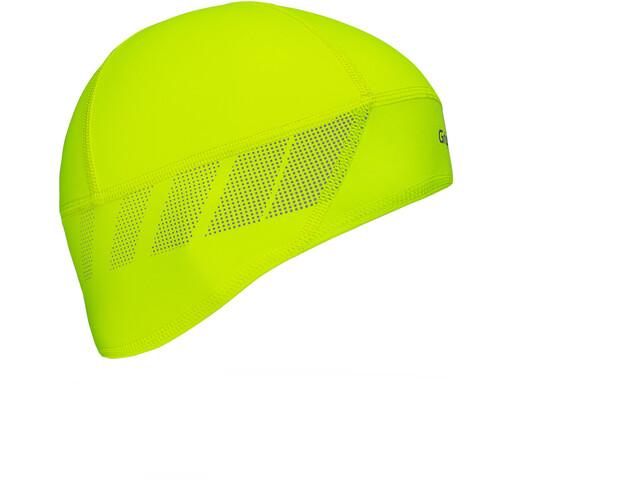 GripGrab Windproof Hi-Vis Skull Cap Fluo Yellow